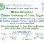 Best Industrial Pharmacy Contribution 2009